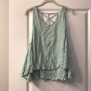 Mint tank with open back